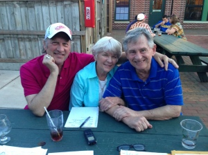 Nancy King, with fellow Festival founders Jeff Howe and Dave Thomas
